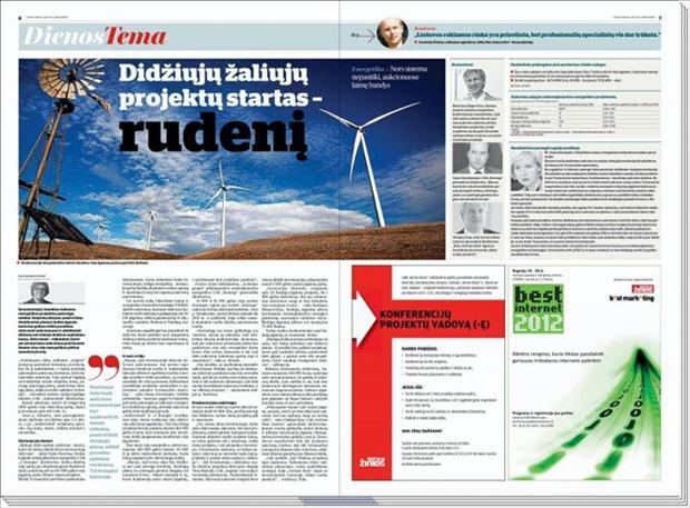 Didžiųjų žaliųjų projektų startas – rudenį