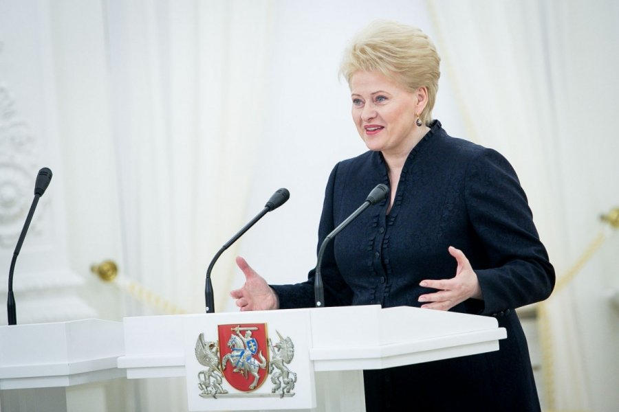 Grybauskaite warming up to the populace